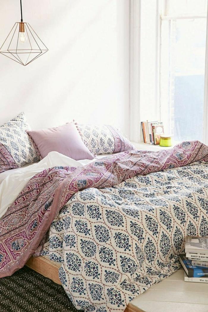 12-la-redoute-housse-de-couette-coloré-rose-et-bleu-avec-housses-de-coussins