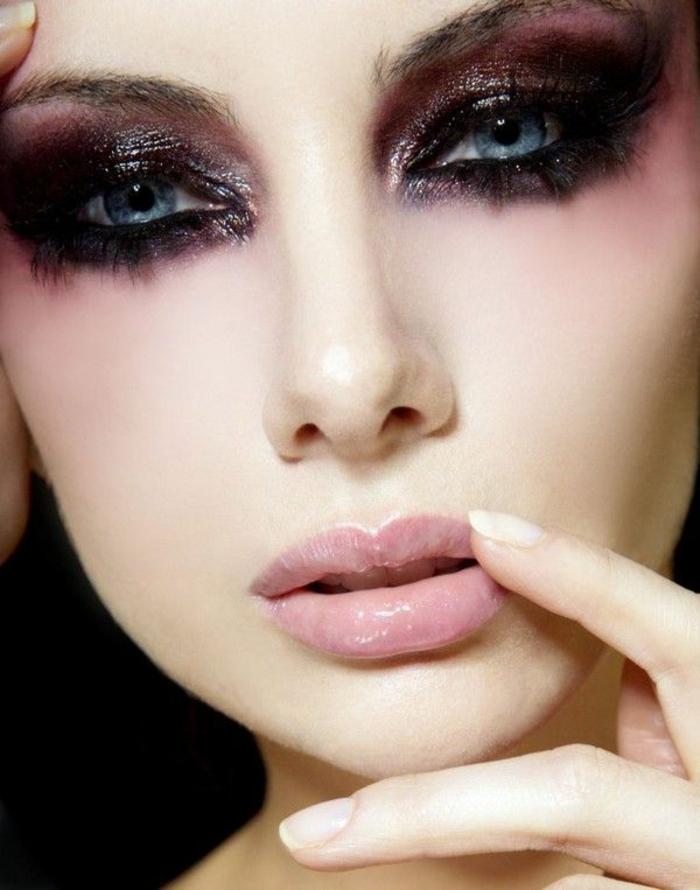 12-le-maquillage-artistique-qui-va-transformer-votre-face-le-maquillage-yeux-bleus-joli