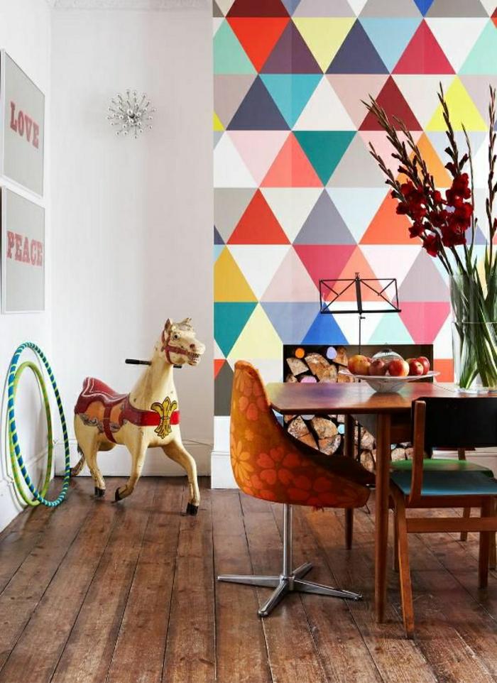 Kids Room Wallpaper Designs: Le Papier Peint Géométrique En 50 Photos Avec Idéеs