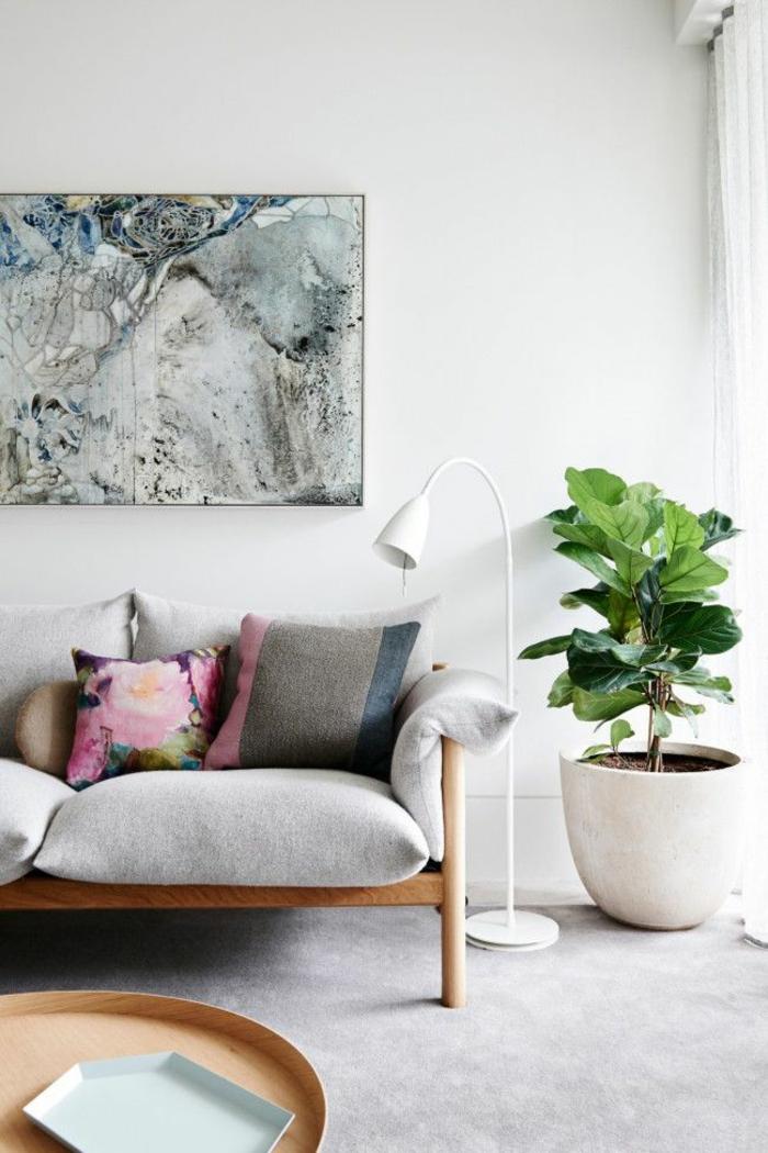 Chambre Verte Zen : … design-déco-design-salon-ou-chambre-à-coucher-lit-tableau-artistique
