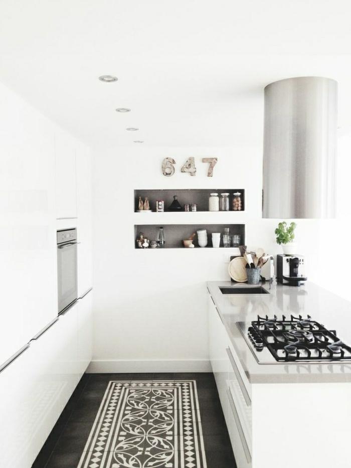 53 variantes pour les cuisines blanches for Amenager une cuisine pas cher