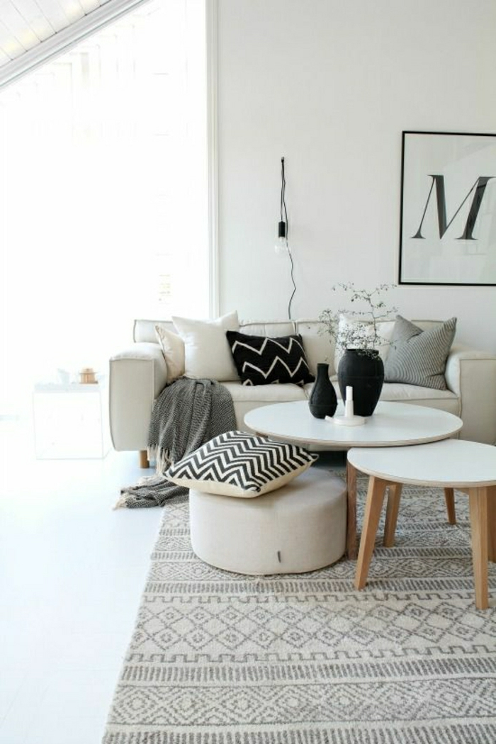 choisir le meilleur tapis scandinave avec notre galerie. Black Bedroom Furniture Sets. Home Design Ideas