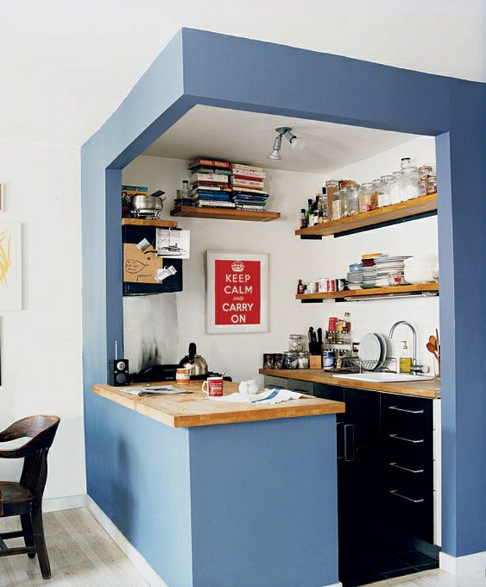 2-jolie-petite-cuisine-ouverte-vers-la-salle-de-séjour-cuisine-americaine-amenagement-petite-cuisine