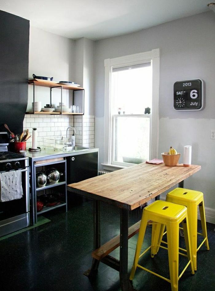 D couvrir la beaut de la petite cuisine ouverte for Table de cuisine americaine