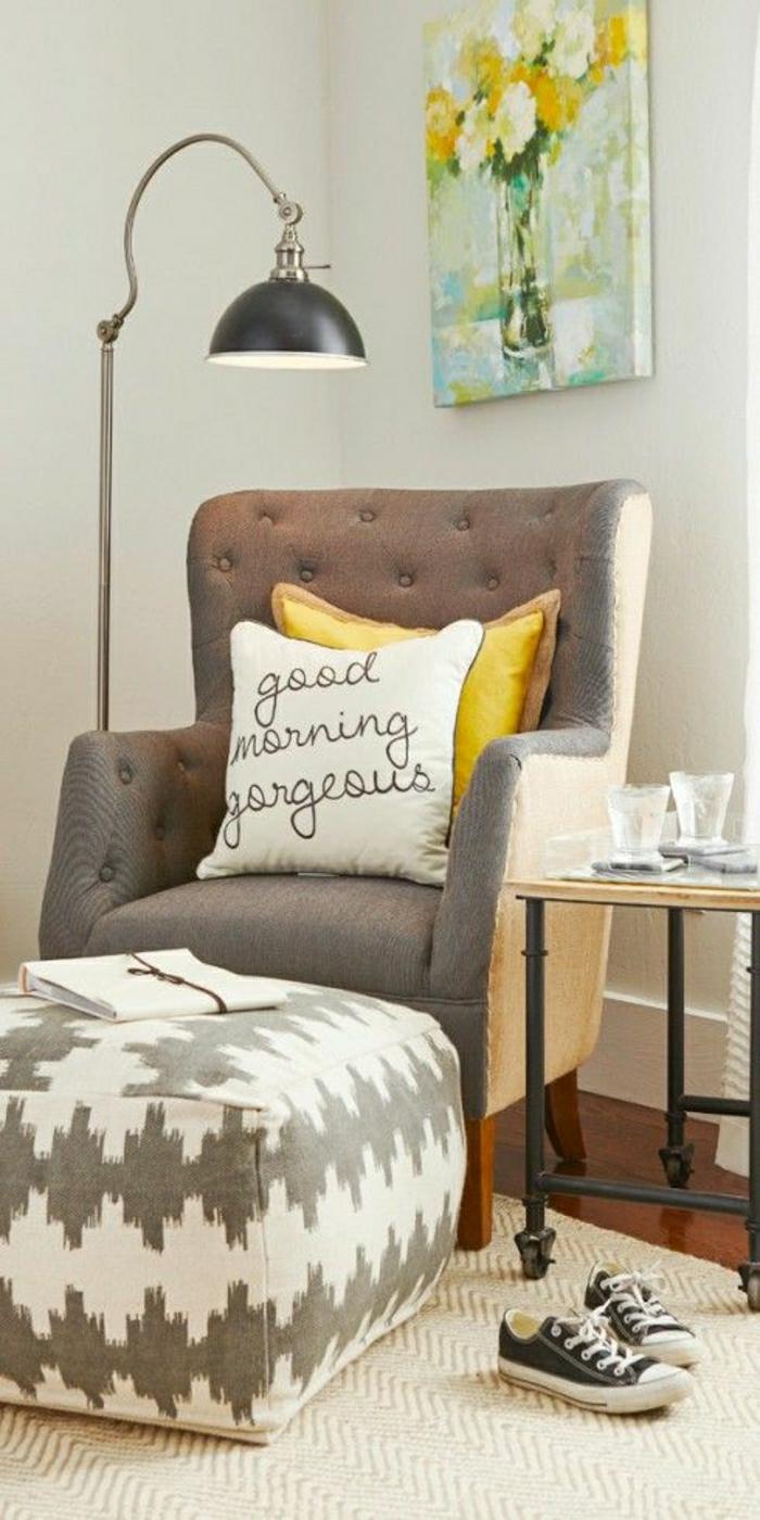 2 un fauteuil relax pas cher gris pour - Fauteuil Pour Lire