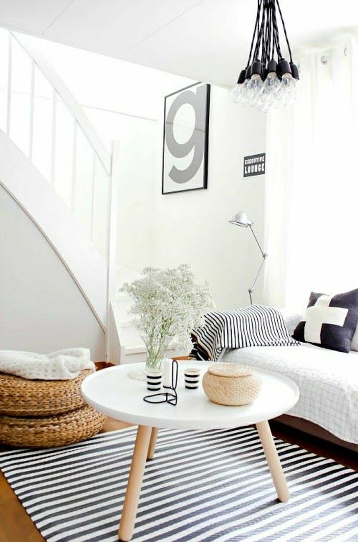 Choisir le meilleur tapis scandinave avec notre galerie - Mesas de libro para salon ...