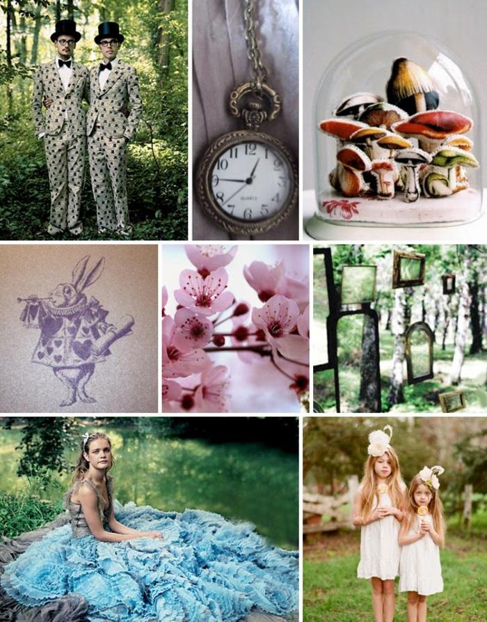 Alice-au-pays-des-merveilles-Disney-déco-mariage-de-princesse-couple-heureuse-idées-robe-de-mariée