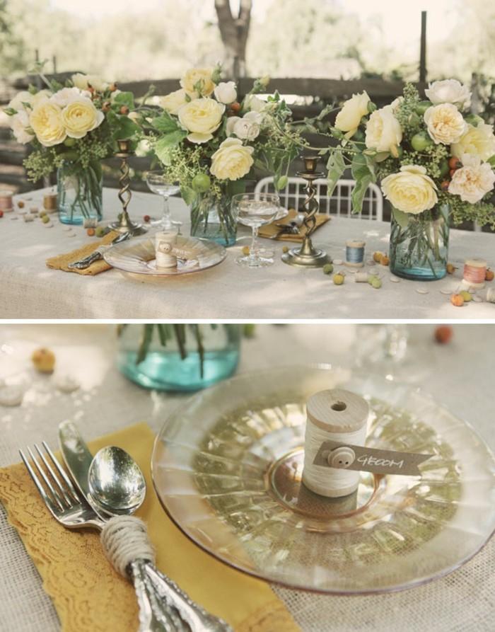 Aurore-la-belle-au-bois-dormant-idées-déco-festive-disney-jour-heureux-grand-table-bouquet-fleurs-blanches-assieds