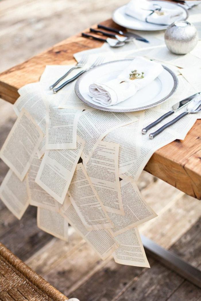 Disney-Alice-au-pays-des-merveilles-gâteau-mariage-fête-décoration-nappe-de-table-originale-feuilles-de-livre