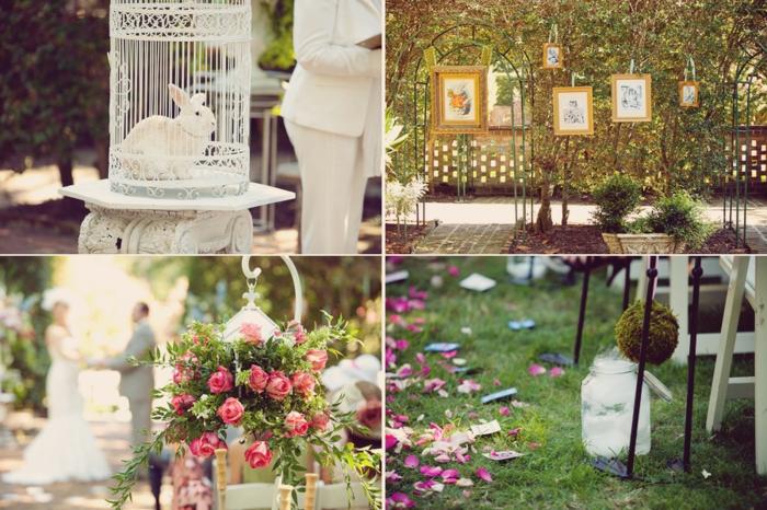 Les-personnages-Alice-au-pays-des-merveilles-disney-décoration-table-de-mariage-lapin