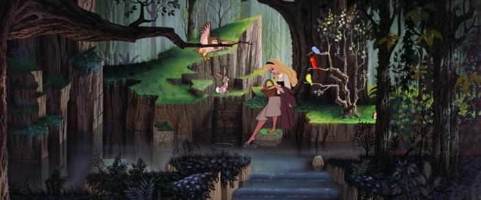 Se-dire-oui-pour-toujours-mariage-la-belle-au-bois-dormant-de-Disney-vert-le-dessin-animée