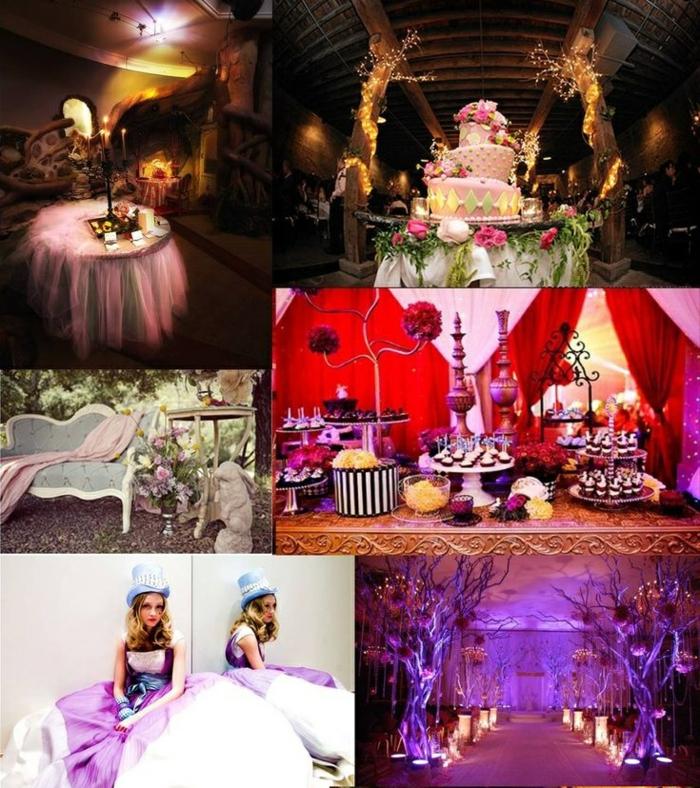 Walt-disney-alice-au-pays-des-merveilles-idées-déco-table-mariage-robe-de-mariée