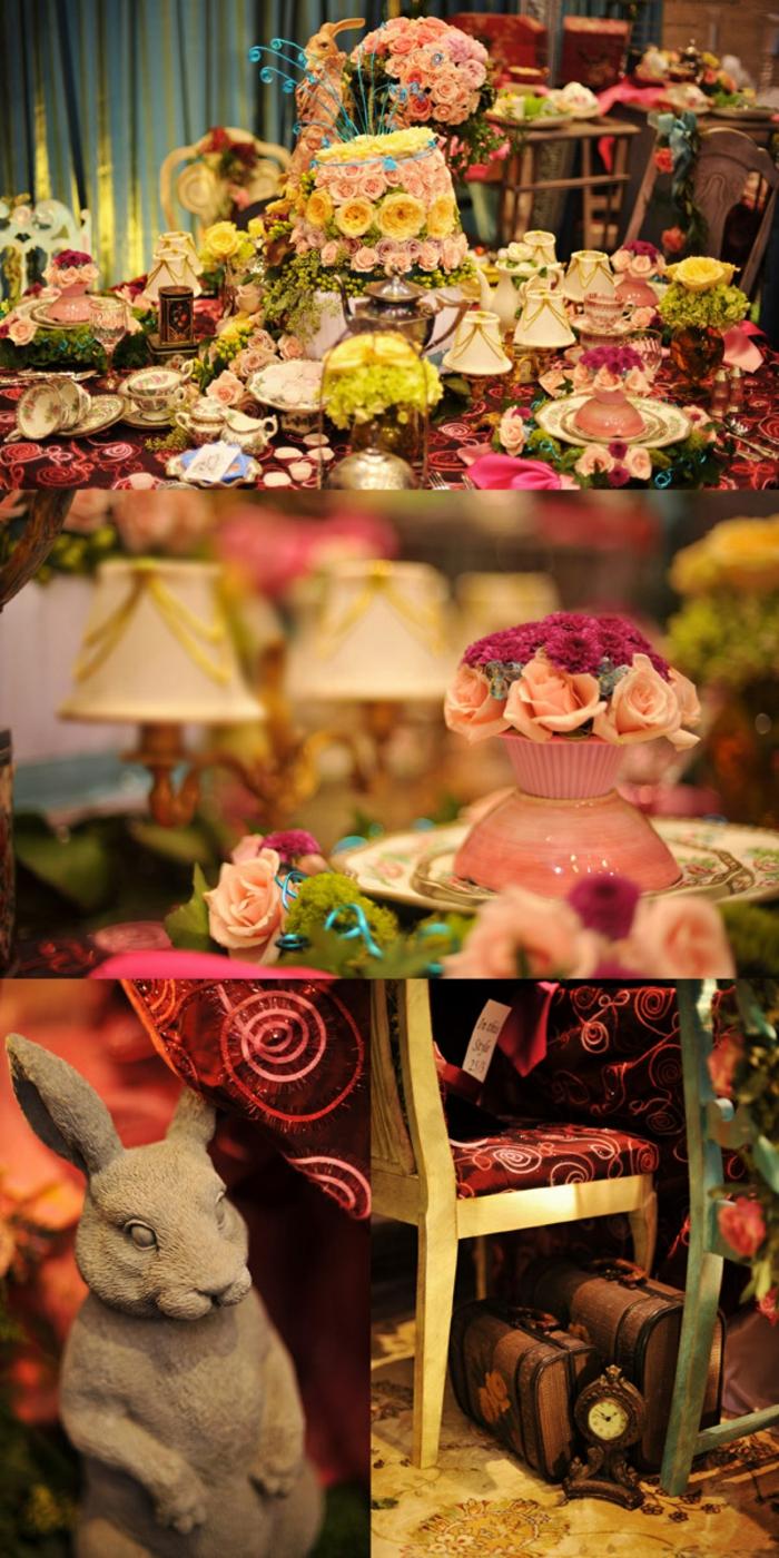 Walt-disney-alice-au-pays-des-merveilles-idées-déco-table-mariage-table
