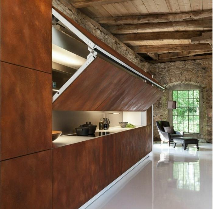 L 39 acier corten modernit pour l 39 int rieur et l 39 ext rieur for Fournisseur meuble cuisine