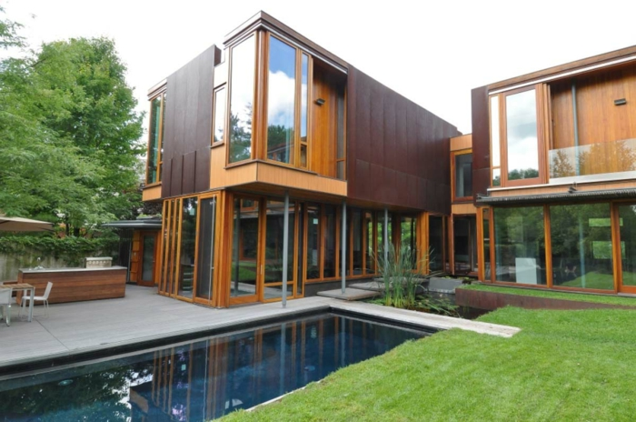 maison moderne acier corten accueil design et mobilier. Black Bedroom Furniture Sets. Home Design Ideas