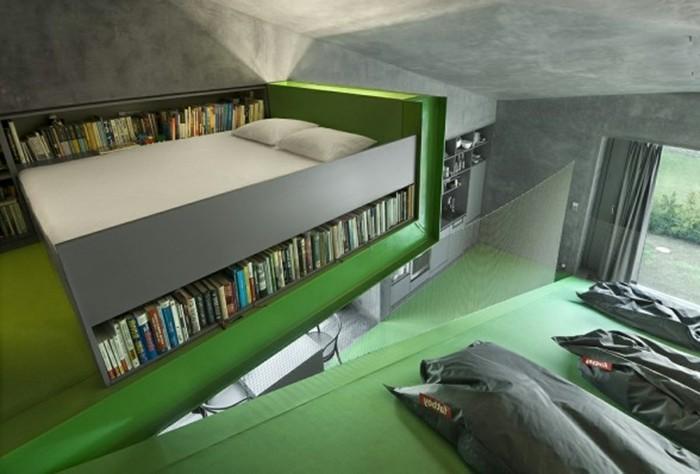 amenagement-petite-chambre-à-coucher-avec-meubles-gain-de-place