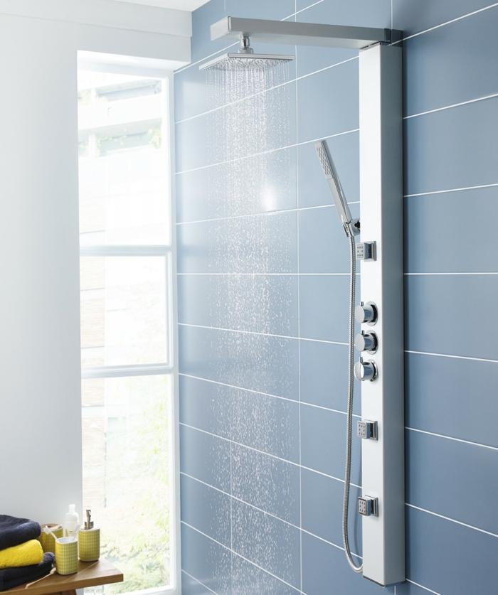 amenager-bien-la-salle-de-bain-avec-colonne-de-douche-castorama-de-design-moderne