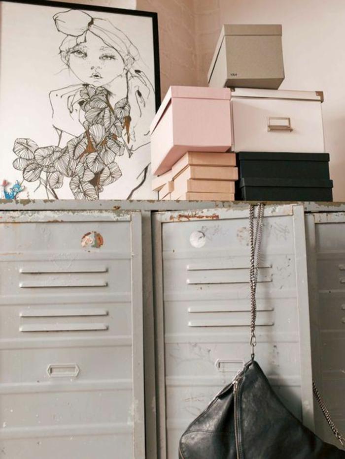 armoire-métallique-boîtes-de-rangement-meubles-industriels
