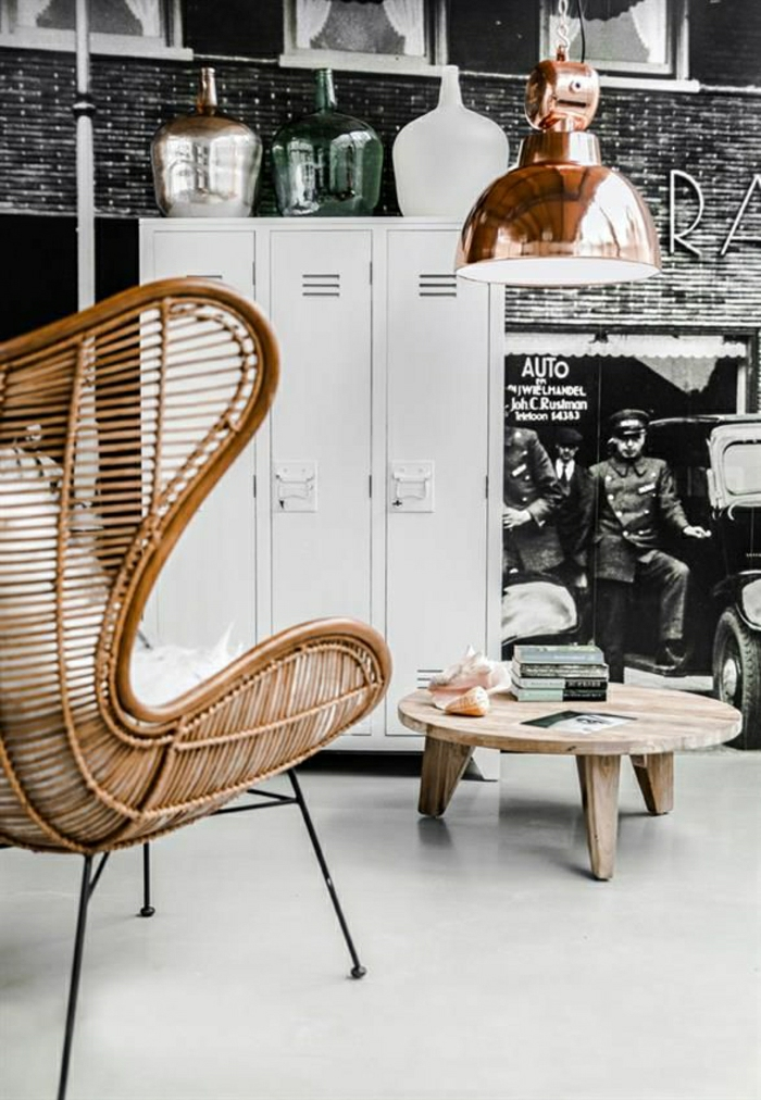 l 39 armoire m tallique apporte l 39 esprit industriel la. Black Bedroom Furniture Sets. Home Design Ideas