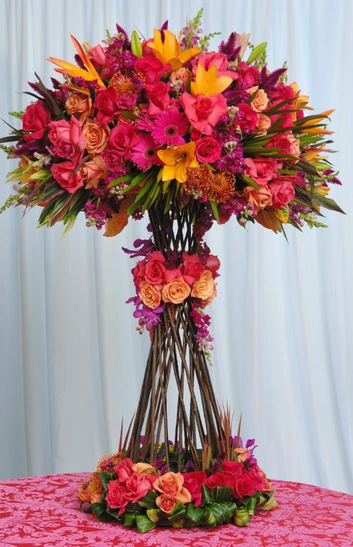 art-foral-moderne-arrangement-créatif-avec-des-fleurs