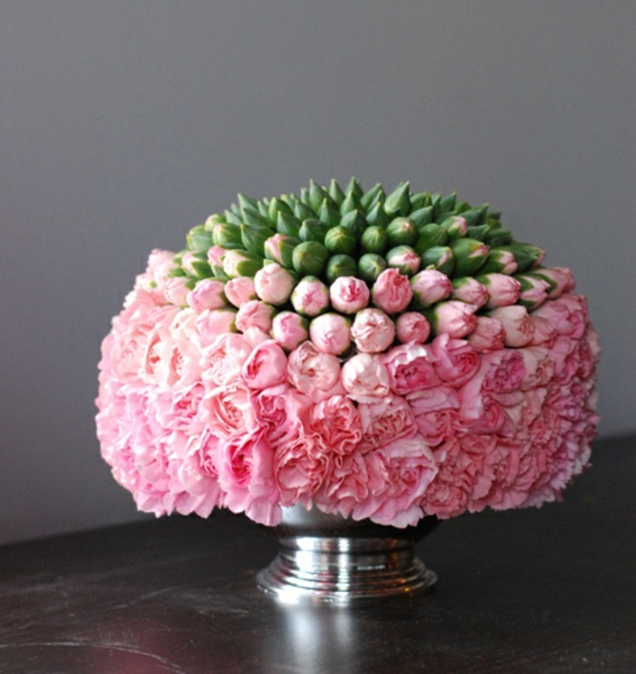 art-foral-moderne-bouquet-centre-de-table-de-mariage