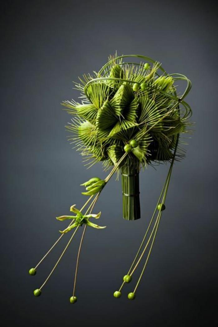 art-foral-moderne-bouquet-vert-unique