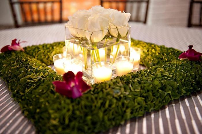 art-foral-moderne-décoration-de-mariage-moderne