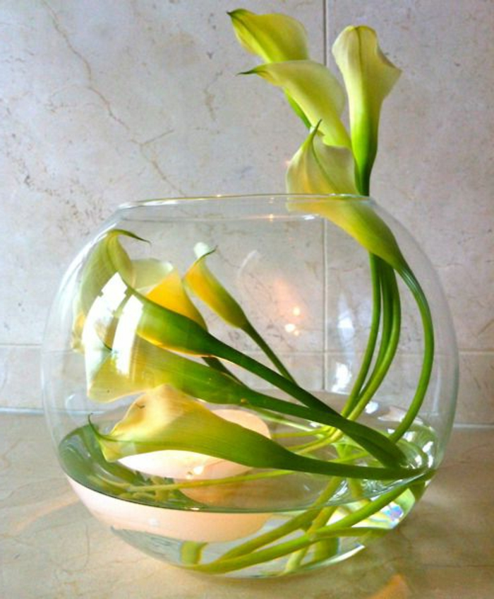 L 39 art floral moderne jolis arrangements de fleurs fra ches - Comment faire composition florale avec mousse ...