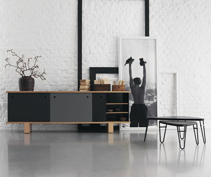 le meilleur bahut moderne en 53 photos pour vous inspirer. Black Bedroom Furniture Sets. Home Design Ideas