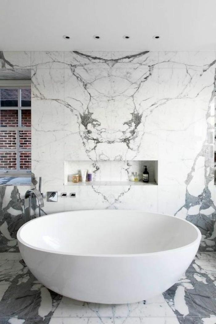 baignoire-ronde-à-poser-rangement-mural-moderne