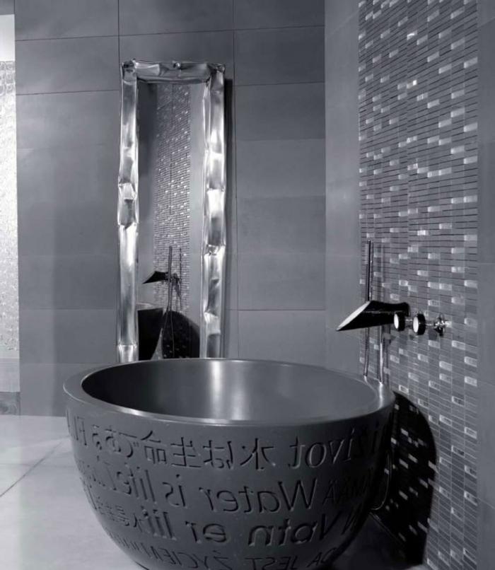 baignoire-ronde-design-d'espace-gris-inspirant