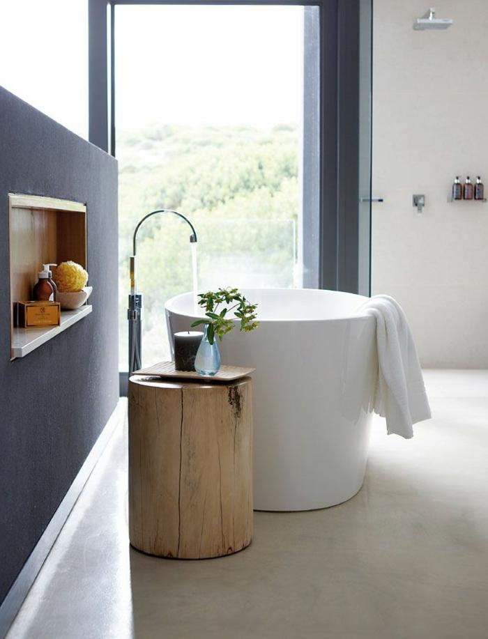 baignoire-ronde-haute-décor-minimaliste