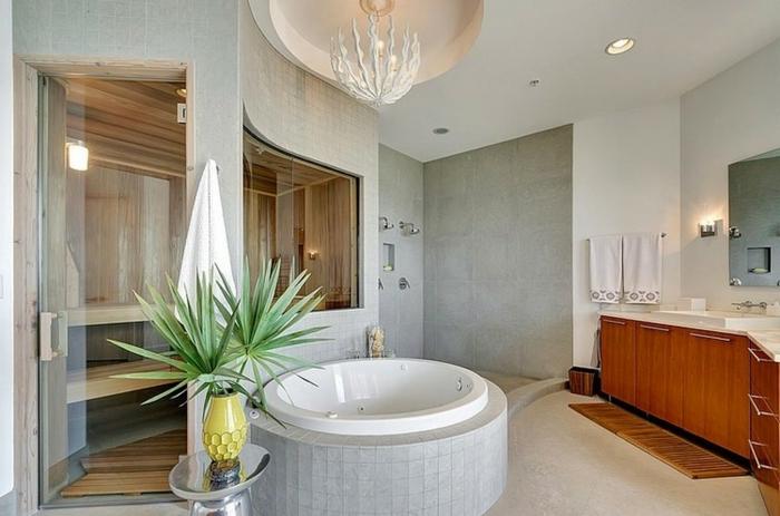 baignoire-ronde-petite-baignoire-blanche-dans-une-salle-de-bains-contempoaine