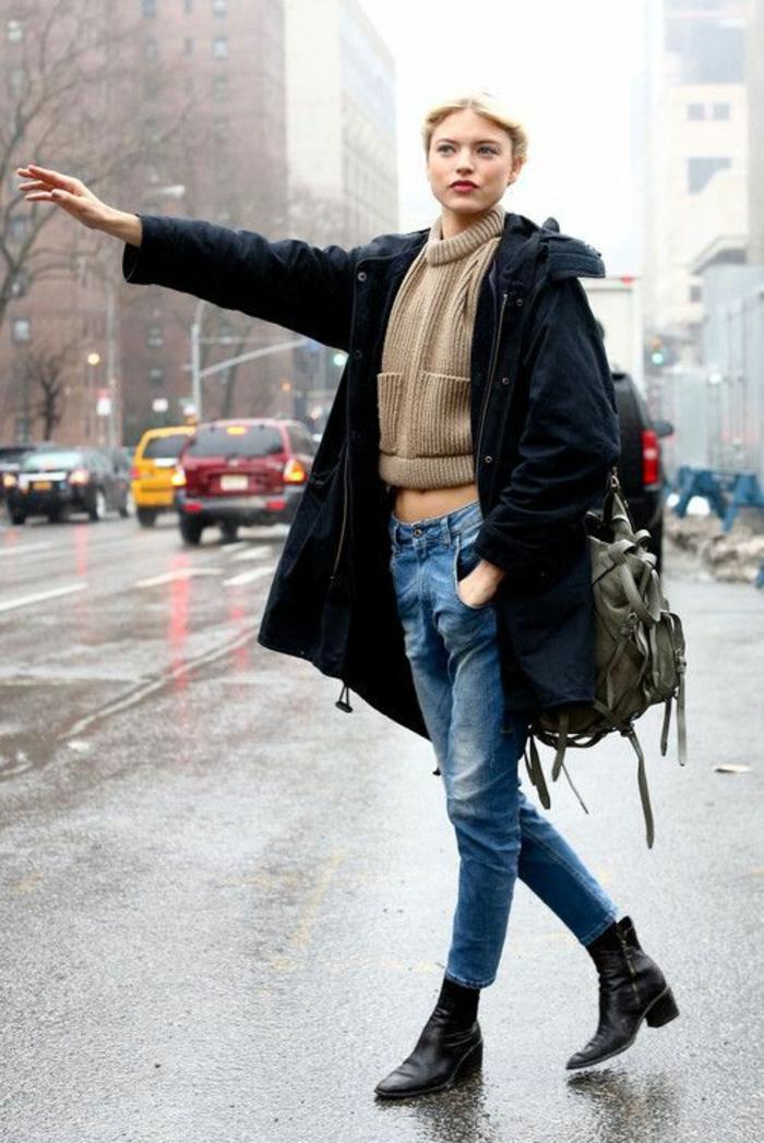 botte-de-pluie-femme-idées-tenue-de-jour-autome-hiver-automne-à-NY