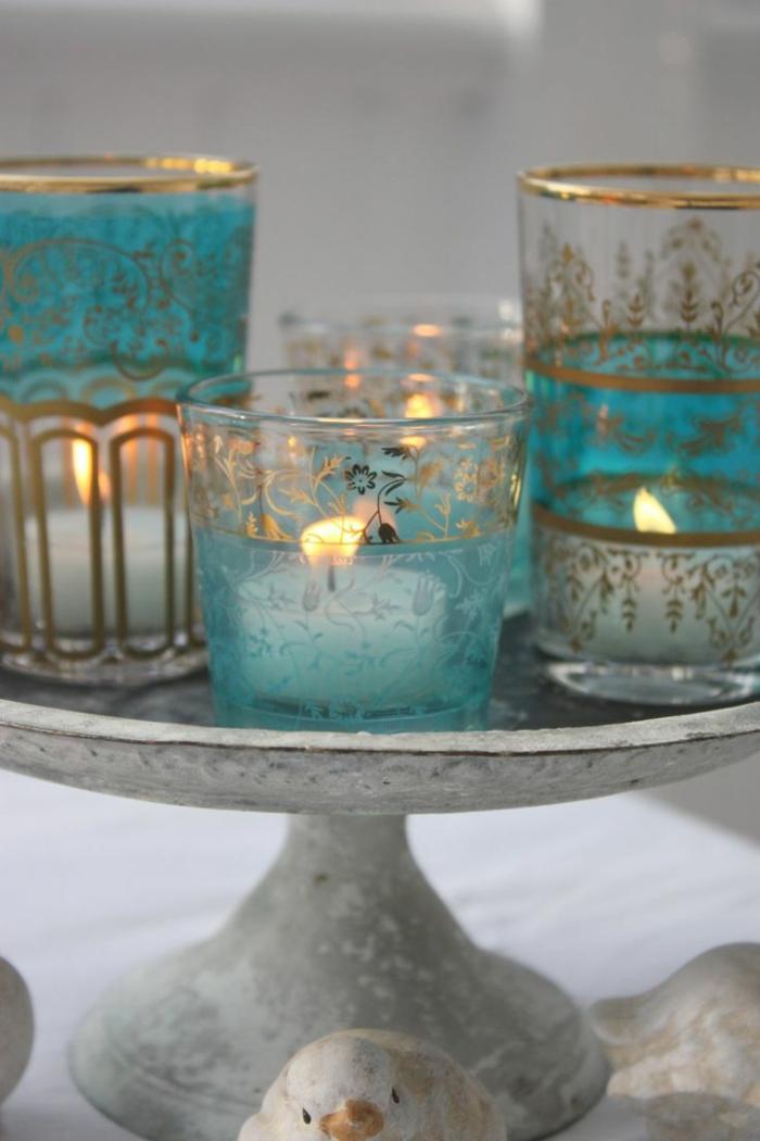 bougie-parfumée-décoration-chambre-à-coucher-pièce-aromatisée-en-bleu