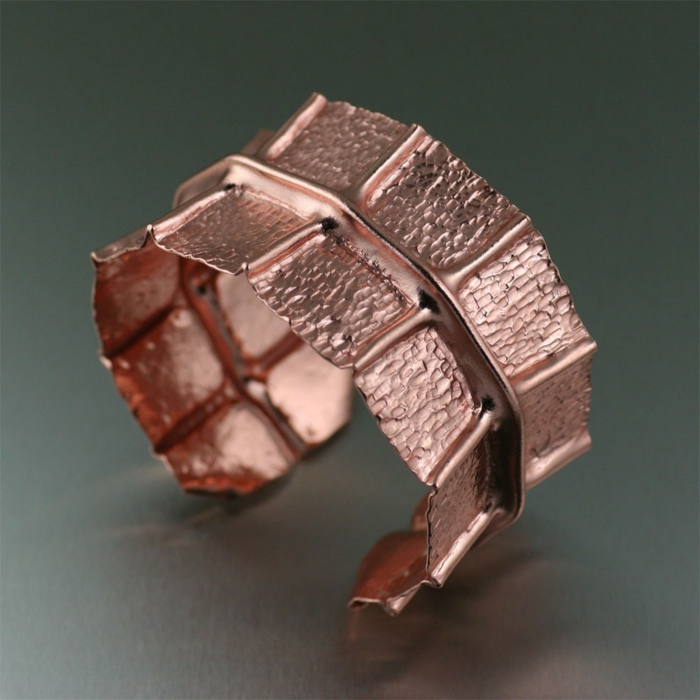 bracelet-en-cuivre-bracelet-manchette-feuilles-métalliques