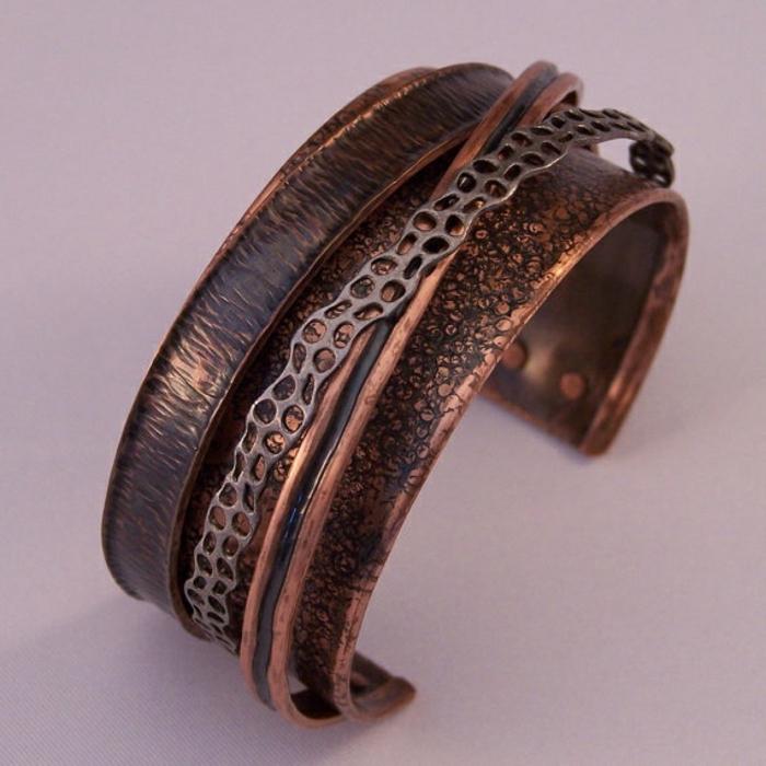 bracelet-en-cuivre-bracelet-massif-en-cuivre-forgé