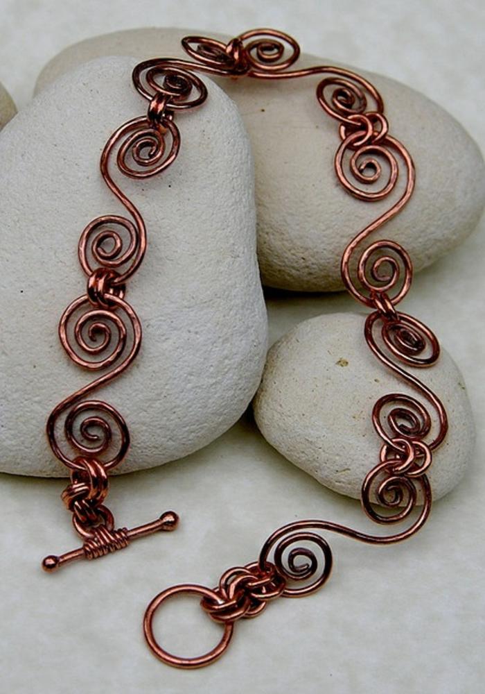 bracelet-en-cuivre-pour-cheville-joli-modèle