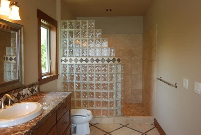 Mettons des briques de verre dans la salle de bains - Brique de verre cuisine ...