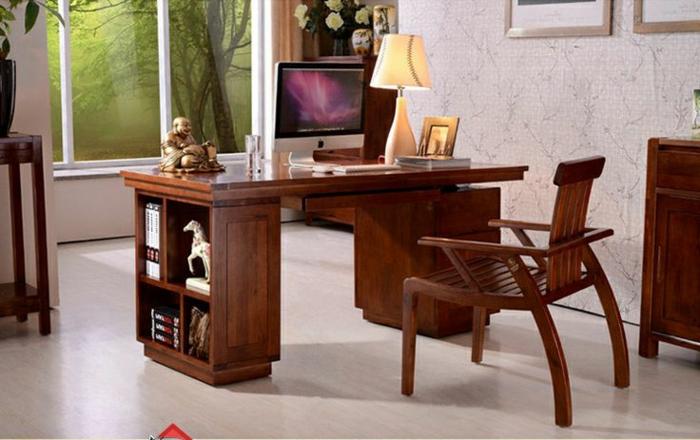 bureau-en-bois-massif-joli-office-de-travail-bois-foncé