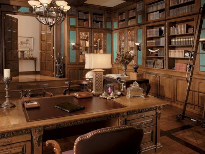 bureau-en-bois-massif-ambiance-tout-bois-style-traditionnel