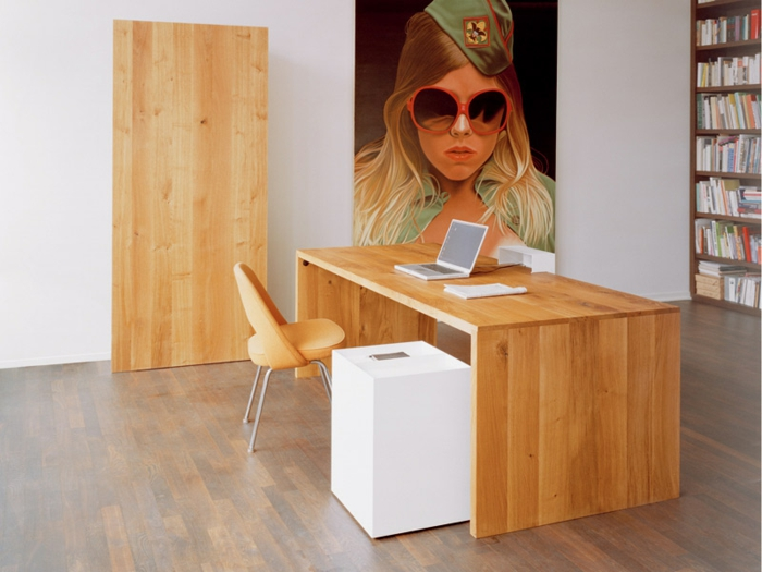Bureau Bois Massif Moderne : bureau-en-bois-massif-ambiance-ultra-moderne-extravagante