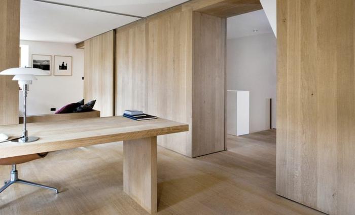 bureau-en-bois-massif-décor-sobre-avec-grand-bureu-en-bois-clair