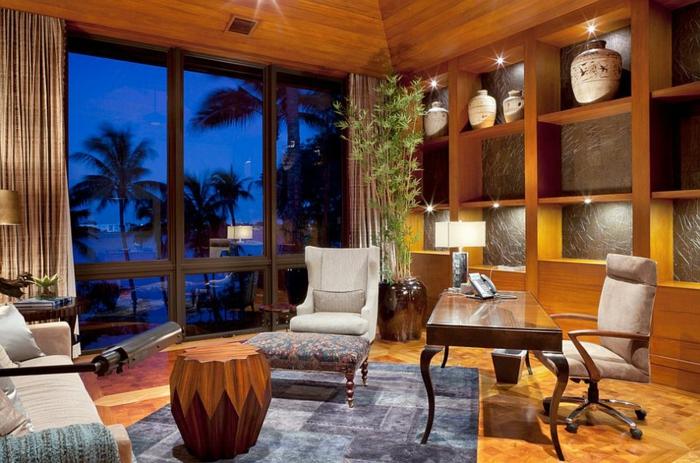bureau-en-bois-massif-demeure-luxueuse-avec-une-vue-tropicale-aménagement-commode-en-bois