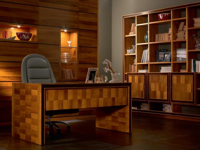 bureau-en-bois-massif-intérieur-fantastique-set-de-bureau-et-bibliothèque-en-bois-solide