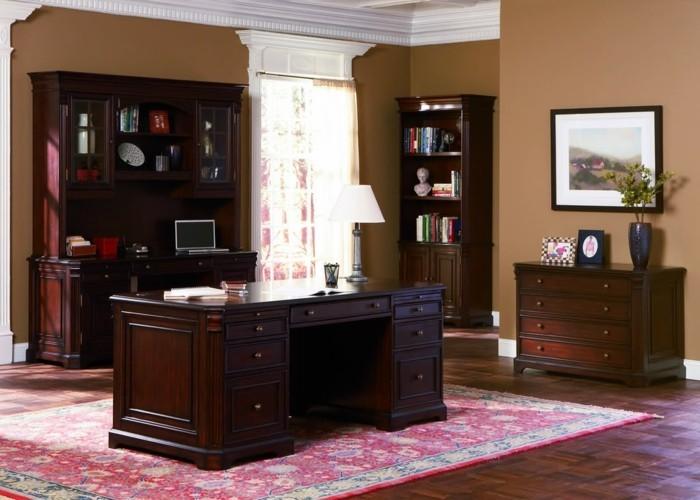 bureau-en-bois-massif-intérieur-traditionnel-buffets-commode-et-bureau-en-bois-solide