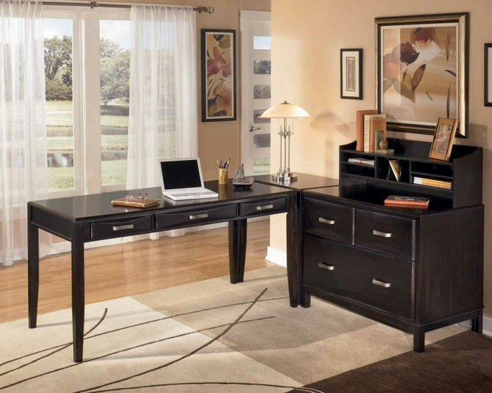 bureau-en-bois-massif-offices-de-travail-élégants