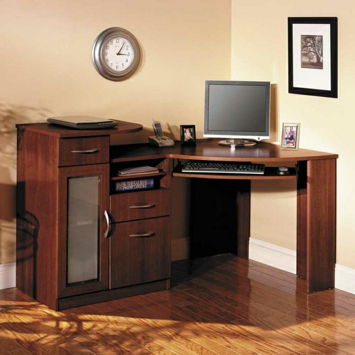 bureau-en-bois-massif-petit-bureau-d'angle-avec-commode