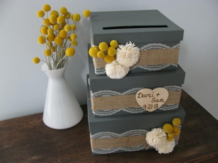 urne de mariage 40 id es originales. Black Bedroom Furniture Sets. Home Design Ideas