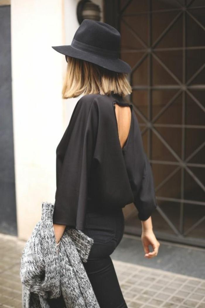 capeline-chapeau-noir-comment-l-accessoiriser-capeline-noire-chemise-noire-look-total-noir